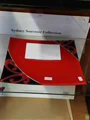 Sale 8582 - Lot 2324 - New Zealand Art Glass Platter