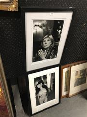 Sale 8811 - Lot 2082 - 2 Framed Photographs: Marianne Faithful & Nude