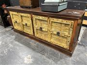 Sale 8896 - Lot 1003 - Coco Republic Sideboard With Four Yellow Doors