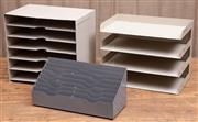Sale 8984H - Lot 75 - Three vintage metal desk tidies, largest H37cm