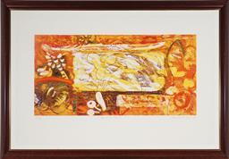 Sale 9101 - Lot 2077 - Frank Hodgkinson (1919 - 2001) - Cape & the Princess 1989 50 x 100 cm (frame: 99 x 141 x 3 cm)