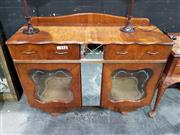 Sale 9063 - Lot 1046 - Art Deco Display Cabinet (H: 88 x W: 121 x D: 45cm)