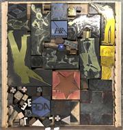 Sale 9080 - Lot 1034 - Tray of Vintage Timber Printers Blocks