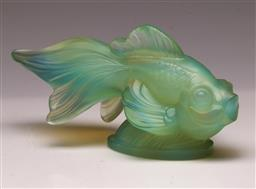 Sale 9110 - Lot 2 - An opalescent glass fish marked Sabing W: 19cm