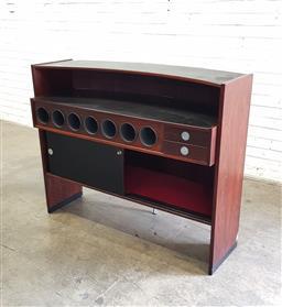 Sale 9108 - Lot 1005 - Timber bar unit (h:105 w:130 d:54cm)