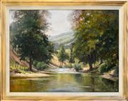 Sale 8363 - Lot 593 - John Perkins (XX - ) - Coxs River 90 x 120.5cm