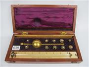 Sale 8431A - Lot 639 - Antique Timber Cased Sikes Hydrometer