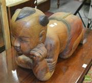 Sale 8431 - Lot 1068 - Timber Statue of Oriental Figure