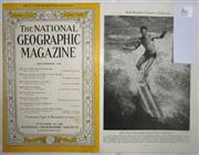 Sale 8431B - Lot 86 - Pictorial, Surfboarders Capture California, 8 pages in National Geographic magazine, September 1944