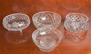 Sale 8470H - Lot 43 - A group of 4 cut glass bowls, various sizes