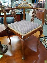 Sale 8580 - Lot 1057 - Victorian Corner Chair (76 x 68 x 70cm)