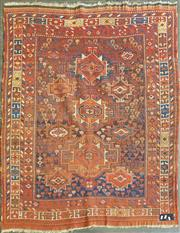 Sale 8676 - Lot 1172 - Probably West Persian Tribal Wool Carpet with Various sized Star Medallions (149 x 130cm)