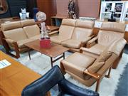 Sale 8822 - Lot 1113 - Rank Kerby 4 Piece Lounge Suite in Pair of 2 Seaters and Pair of Arm Chairs