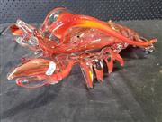 Sale 9022 - Lot 1082 - Art Glass Lobster (h:16 x l:44cm)