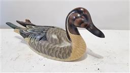 Sale 9157 - Lot 1067 - Painted carved timber decoy duck (h21 x w51 x d16cm)