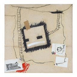 Sale 9245J - Lot 92 - Elwyn Lynn - The Drawing Fields signed & dated 94 verso