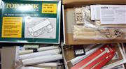 Sale 8376 - Lot 38 - Two O Gauge Building Kits and other Materials; Top Link plastic factory (1414) in box, and Banta Modelworks timber Little Creek Engi...