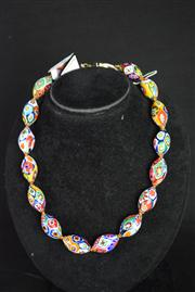 Sale 8396A - Lot 7 - Murano Glass Millefiori Necklace