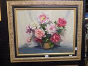 Sale 8417T - Lot 2030 - Artist Unknown (XX) - Floral Still Life 34 x 44cm