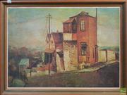 Sale 8600 - Lot 2084 - North East Sydney Suburb Scene Decorative Print, 85.5 x 64cm