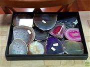 Sale 8611 - Lot 1076 - Box Base Cut Polished Agates
