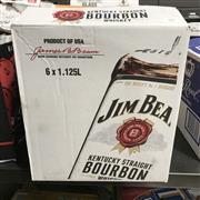Sale 8801W - Lot 90 - 6x Jim Beam Bourbon Whiskey, 1125ml