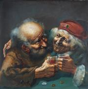 Sale 8867 - Lot 505 - Zoltan Fenyes (1924 - 1997) - A Drink for Happyness 60.5 x 60.5 cm