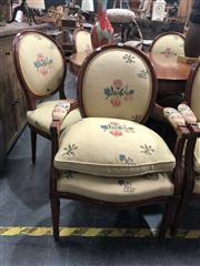 Sale 8868 - Lot 1189 - Set of Six French Style Dining Chairs incl. Two Carvers