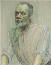 Sale 8947 - Lot 597 - Artist Unknown (C20th) - Portrait of a Man 54 x 43 cm (frame: 77 x 62 x 2 cm )
