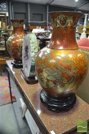 Sale 8347 - Lot 1051 - Pair of Oriental Vases