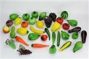 Sale 8405 - Lot 11 - Art Glass Fruit & Vegetables