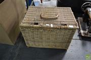 Sale 8487 - Lot 2099 - Wicker Basket of Fishing Reels etc