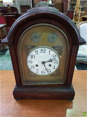 Sale 8559 - Lot 1080 - An Unusual Possibly German Mantle Clock for the Eastern Market, in the Georgian Bracket Style, with white enamel dial & false silent...