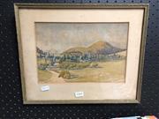 Sale 8789 - Lot 2164 - Landscape, Signed Watercolour
