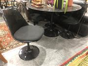 Sale 8809 - Lot 1016 - Marble Top Tulip Based 5 Piece Dining Suite