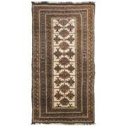 Sale 8870C - Lot 70 - Afghan Vintage Natural Beluch Rug in Handspun Wool 270x145 cm