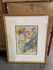 Sale 8990 - Lot 2089 - Marc Chagall Decorative Print 83 x 68cm