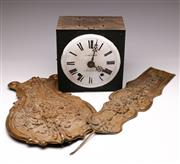 Sale 9078 - Lot 29 - Comtoise Clock Mechanism and pendulum (parts only)