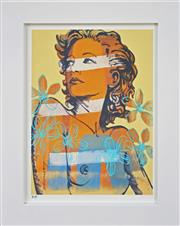 Sale 8301A - Lot 19 - David Bromley (1960 - ) - Hillary with Flowers 29 x 21.5cm