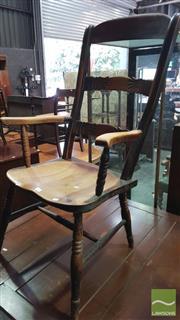 Sale 8375 - Lot 1081 - Rustic Oak Armchair