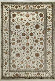 Sale 8379A - Lot 20 - A hand knotted Jaipor silk & wool carpet, 240cm x 166cm