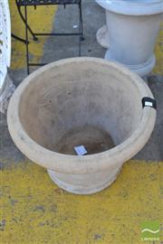 Sale 8390 - Lot 1368 - Pair of Sandstone Planters