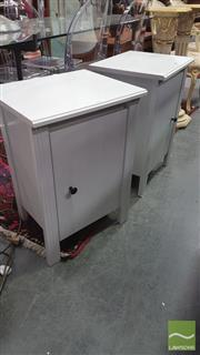 Sale 8404 - Lot 1076 - Pair of Single Door Bedsides