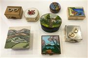 Sale 8436A - Lot 48 - A group of novelty pill boxes including Limoges Limited enamel. (8)