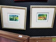 Sale 8491 - Lot 2042 - Madeleine Szymanski (2 works) - Four Figures Walking; Three Figures at Leisure 7.5 x 11cm (frame size: 29 x 31cm)
