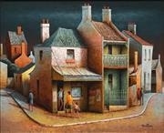 Sale 8633 - Lot 519 - John Pointon (1936 - ) - Evening at the Corner 24 x 29.5cm