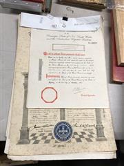 Sale 8819 - Lot 2413 - Masonic Papers