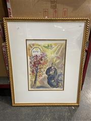 Sale 8990 - Lot 2087 - Marc Chagall decorative print, 83 x 68cm