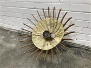 Sale 9056 - Lot 1031 - Vintage Timber Hanging Light Fitting (d:67cm)
