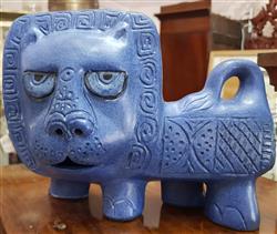 Sale 9093A - Lot 5079 - Betty McLaren - Australian Pottery: Majestic Lion Gus McLaren ,1960s h. 14 x l.25 cm